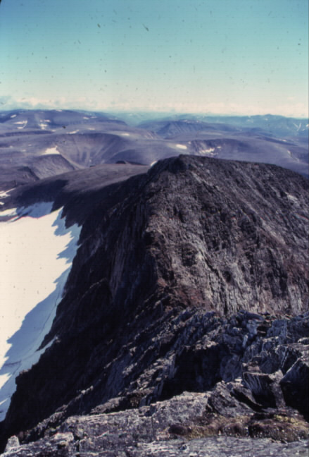 The view from the summit, along the Southern Ridge.