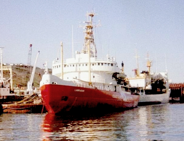 HMCS Labrador, St. John's, 1982. G. Bourchard photograph, via Wikimedia.